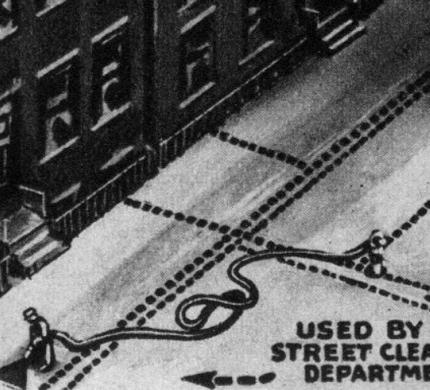 futurystyczna wizja odkurzania Nowego Jorku
